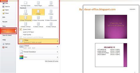 cara membuat business plan ppt cara print powerpoint 1 lembar 2 slide 4 slide 6 slide