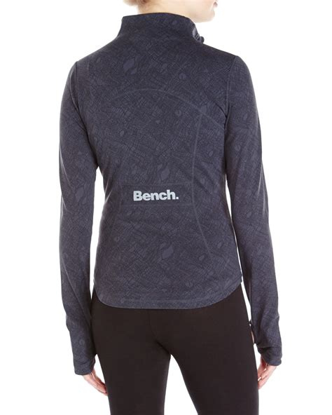 bench funnel neck jacket lyst bench funnel neck zip up performance jacket in gray