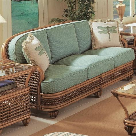 tropical couch vendor 10 captiva tropical wicker sofa with turned bun