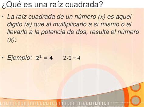 para que sirve la raiz cuadrada aplicaci 243 n de los funciones de ra 237 z cuadrada