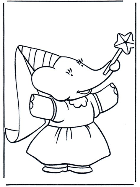 babar 4 babar coloring pages