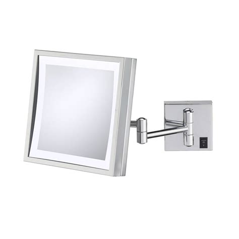 wall mounted makeup mirror rectangular 3x in wall mirrors wall mounted makeup mirror square 3x in wall mirrors