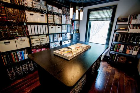 materials library and studio contemporary home office