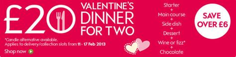 waitrose valentines waitrose 163 20 s dinner for two offer expired