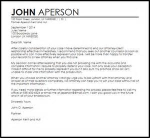 attorney client termination letter termination letters