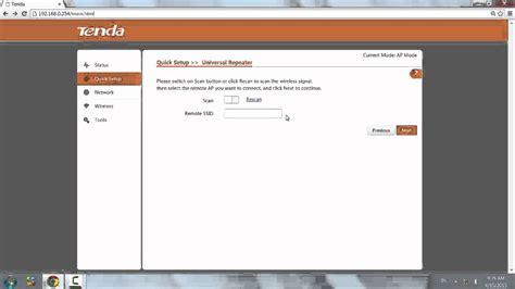 configurare router tenda configurare access point tenda come repeater