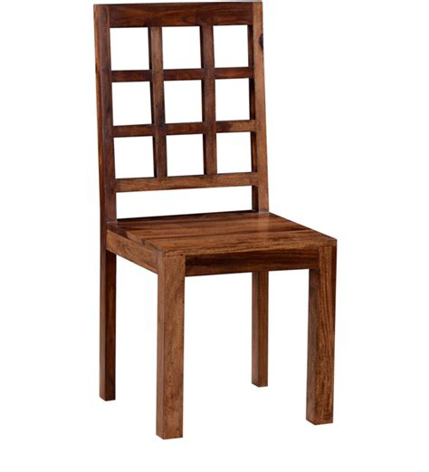 Teak Wood Dining Chairs Buy Raliegh Dining Chair In Provincial Teak Finish By Woodsworth Contemporary Dining