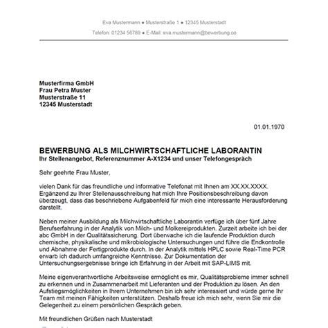 Bewerbung Anschreiben Ausbildung Laborant Bewerbung Als Milchwirtschaftlicher Laborant Milchwirtschaftliche Laborantin Bewerbung Co