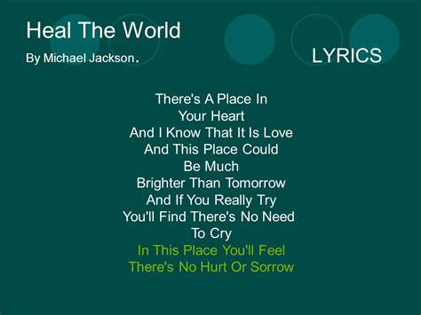 There Is A Place Song Lyrics Song About Poverty By B And Lorna G Ppt