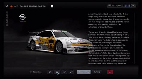 opel calibra race car gran turismo 5 opel calibra touring car 94 youtube