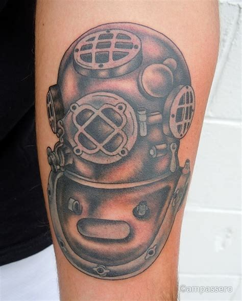 diving helmet tattoo designs helmet new diving design tattooshunter