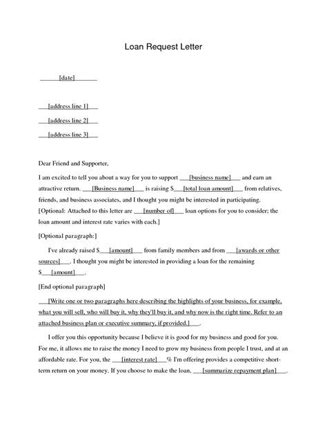 Loan Request Letter Doc Business Loan Application Letter Sle Free Printable Documents