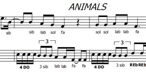 testo animals musica e spartiti gratis per flauto dolce animals di