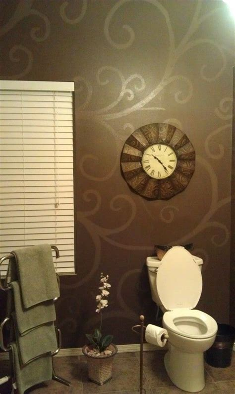 wall stencils for painting bathroom neat idea for accent wall paint background color first