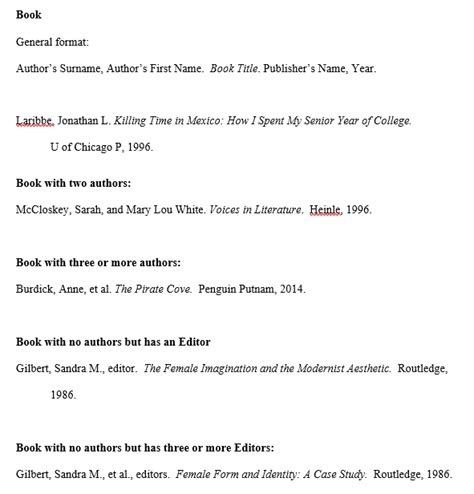 mla format and style handouts and sample works cited page tpt