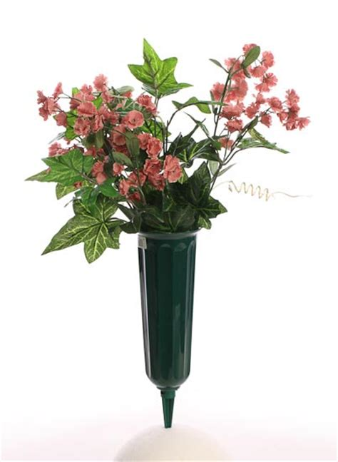Plastic Flower Vases For Cemetery by Flower Crafts For Tombstone