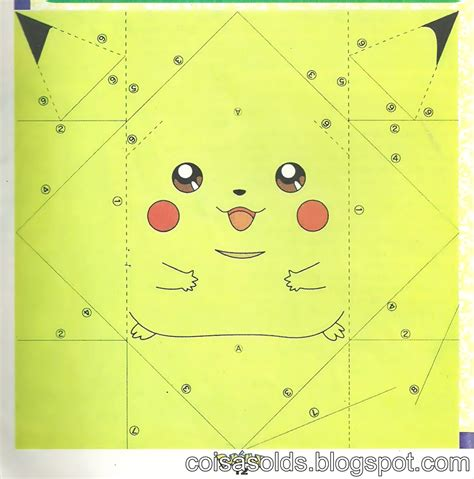 How To Make A Paper Pikachu - 6 best images of printable origami pikachu