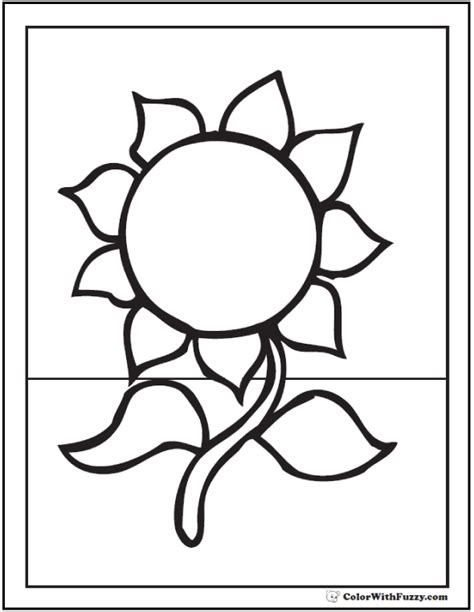 sunflower template printable simple sunflower coloring pages
