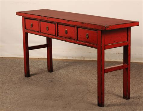 painted sofa table hand painted console table with drawers ma004