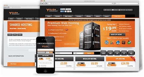whmcs html template slick host responsive html5 template a powerful orange