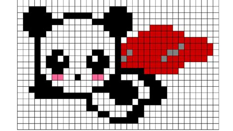 the gallery for gt pixel art templates easy panda