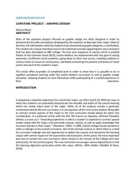 capstone project template graphic design capstone project writing service