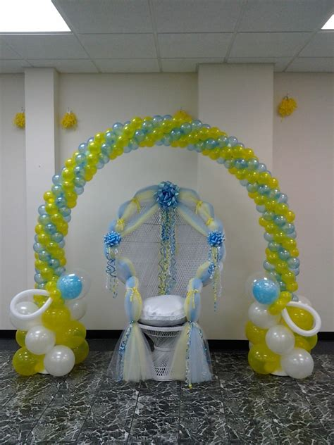 Baby Shower Balloon Arch by Baby Shower Chair Balloon Arch