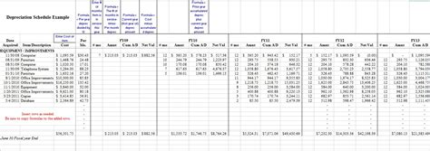 depreciation schedule template 28 depreciation schedule template 35 depreciation