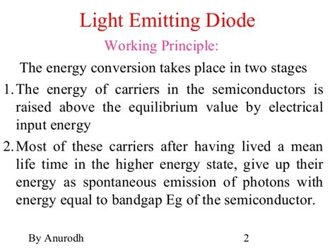 light emitting diode working ppt led pin diode