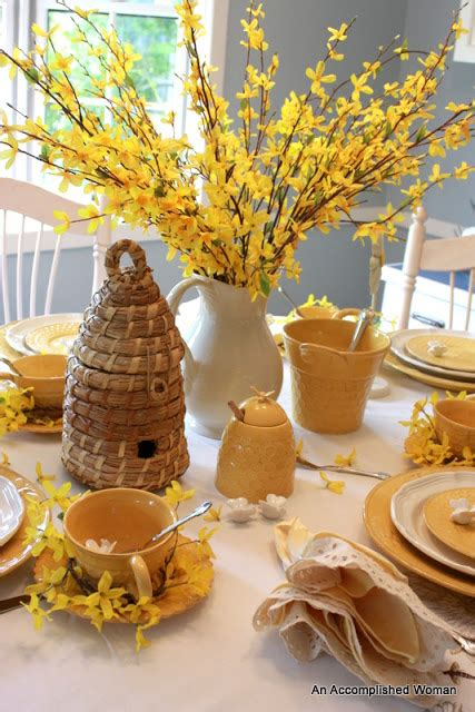 ctm bee honeycomb an accomplished forsythia and bees tablescape