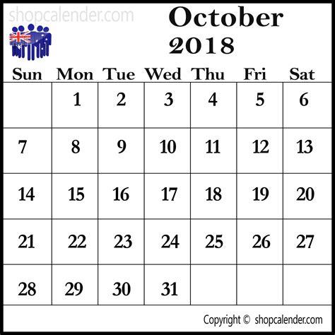 printable calendar october 2017 australia october 2018 calendar australia blank free calendar