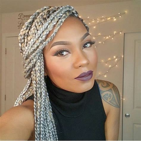 grey box braids grey i love and love this on pinterest