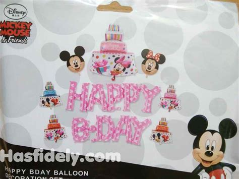 Balon Foil Wisuda Smile balon foil happy birthday 1 set mickey mini toko
