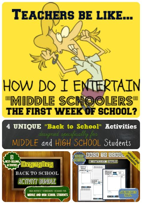 new strategies for teaching middle school health all new back to school activities for middle and high
