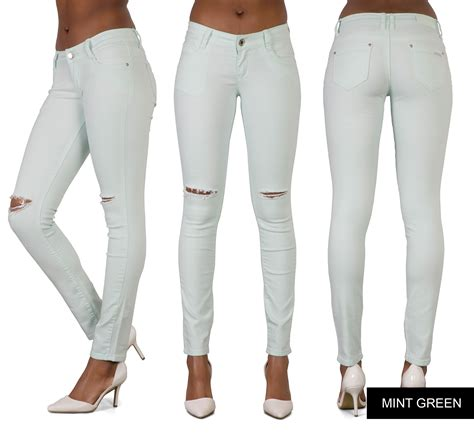 Ferlow Pant Ij 12 ripped knee womens high waisted jegging 6 8 10 12 14 ebay