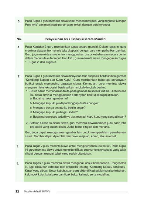 menulis puisi hrs memperhatikan bahasa indonesia smp 7 guru