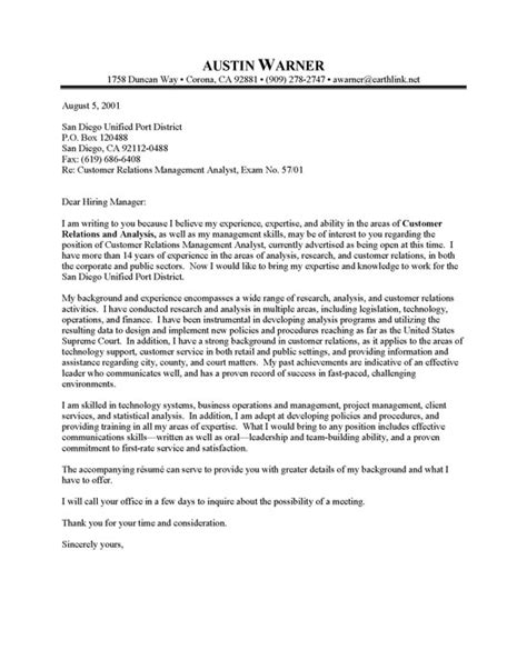 Manager Cover Letter Resume City Manager Cover Letter Sle Resume Cover Letter