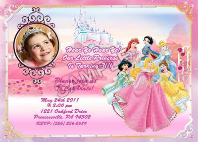 disney princess birthday invitations custom july invitationsfree printable invites birthday