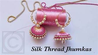 Vase With Pearls How To Make Silk Thread Jhumkas Hoop Style Beautiful Pink