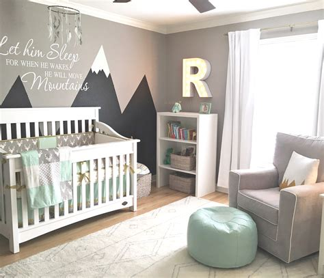 Nursery Room Decor Design Reveal Mountain Inspired Nursery Project Nursery