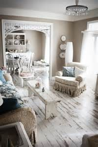 Cottage Living Room Flooring Picture Of Hardwood Floors Painted White For A