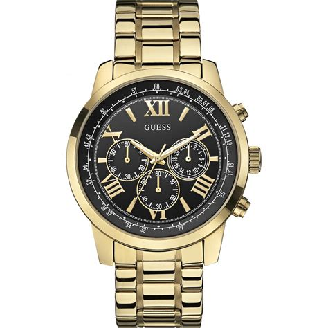 guess s horizon gold tone chronograph w0379g4