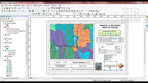layout toolbar arcgis 10 tutorial arcgis capitulo 5 14 layouts insertar mapa de