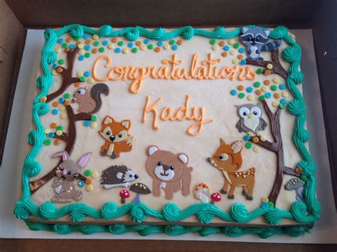 Animal Baby Shower Cakes by Woodland Creatures Baby Shower Cake Www Pixshark