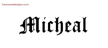 tattoo lettering michael micheal archives free name designs