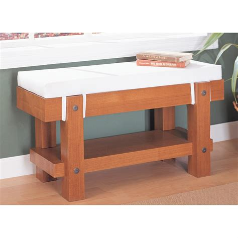 Living Room Bench With Cushion Organize It All Robust Bench With Cushion 154917 Living