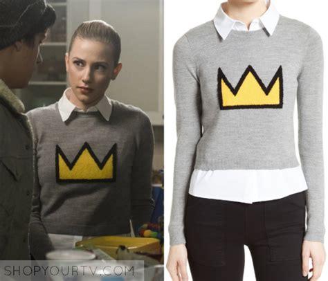 Sweater Cat April Merch riverdale season 1 episode 10 betty s crown print sweater