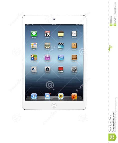white ipad mini editorial photo image