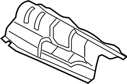 2012 audi q5 exhaust heat shield. floor pan heat shield