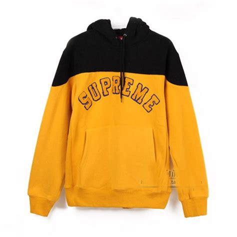 where can i find supreme clothing supreme hoodie black yellow pretty much skater